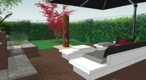 Projet Terrasse Vue 3D Salon MESENCORE©