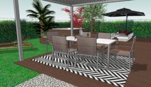Projet Terrasse Vue 3D Déjeuner/Diner MESENCORE©