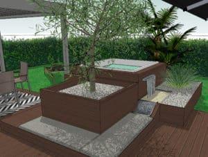 Projet Terrasse ULN Vue 3D Détente MESENCORE©