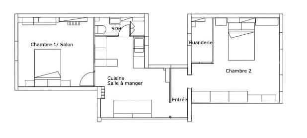 Plan projet Appartement SG Paris 17 - MESENCORE©