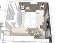Vue 3D projet Appartement SG Paris 17 - MESENCORE©