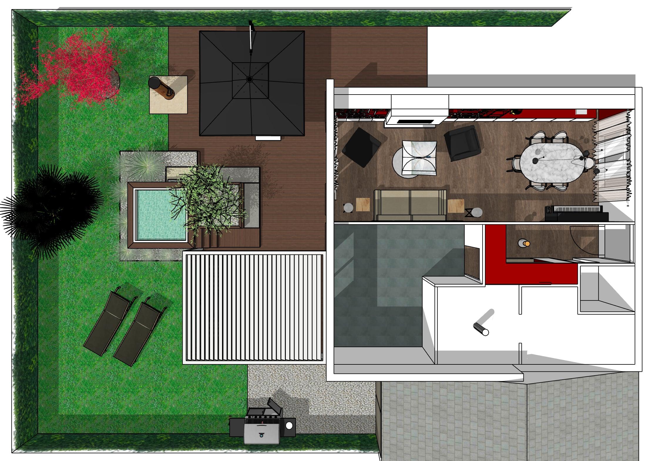 Rénovation Salon, salle à manger et création d'une terrasse