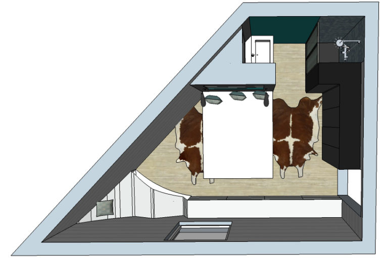 Preliminary draft of a triangle room